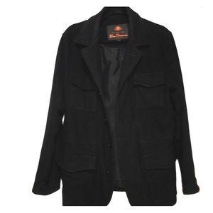 Ben Sherman Black Wool Coat Men's Medium